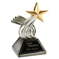 View a larger, more detailed picture of the Achieva Gilded Pewter Star Award