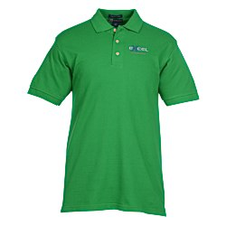 View a larger, more detailed picture of the Blue Generation Egyptian Cotton Pique Polo - Men s