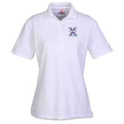 View a larger, more detailed picture of the Hanes ComfortSoft Cotton Pique Shirt - Ladies - White