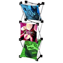 View a larger, more detailed picture of the Geometric Junior Pop-Up Tabletop Display - 3 Panel