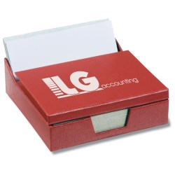 View a larger, more detailed picture of the Recycled Business Card Holder Notepad Center