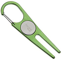 View a larger, more detailed picture of the Aluminum Divot Tool with Ball Marker