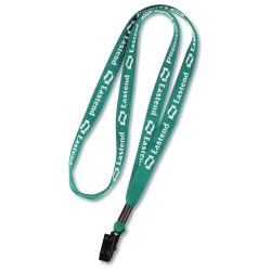 View a larger, more detailed picture of the Knit Cotton Lanyard w Metal Bulldog Clip - 1 2