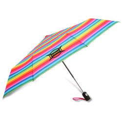 View a larger, more detailed picture of the totes Auto Open Close Umbrella - Stripes
