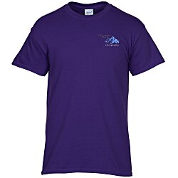 View a larger, more detailed picture of the Gildan 5 3 oz Cotton T-Shirt Men s - Embroidered - Colors