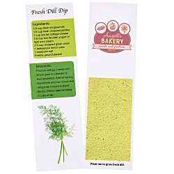 View a larger, more detailed picture of the Recipe Bookmarks - Dill