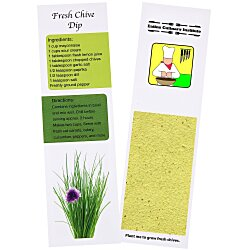 View a larger, more detailed picture of the Recipe Bookmarks - Chives