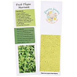 View a larger, more detailed picture of the Recipe Bookmarks - Thyme