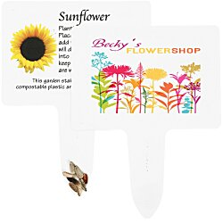 View a larger, more detailed picture of the Compostable Seed Stakes - Sunflower