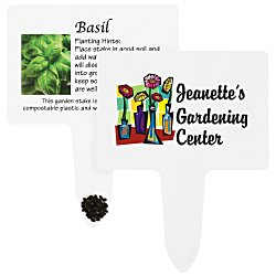 View a larger, more detailed picture of the Compostable Seed Stakes - Basil