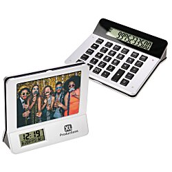 View a larger, more detailed picture of the Picture Frame with Clock and Calculator