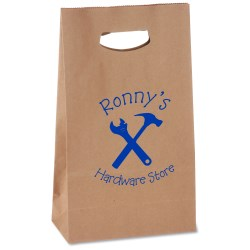 View a larger, more detailed picture of the Die Cut Handle Kraft Paper Bag - 11 x 7