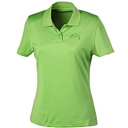 View a larger, more detailed picture of the Vansport Omega Solid Mesh Tech Polo - Ladies - Laser Etched