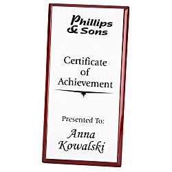 View a larger, more detailed picture of the Rosewood Finished Plaque with Aluminum Plate - 12