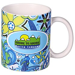 View a larger, more detailed picture of the Blue Medley Designer Mug - 11 oz