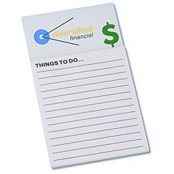 View a larger, more detailed picture of the Bic Business Card Magnet with Note Pad - Dollar Sign