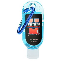 View a larger, more detailed picture of the Hand Sanitizer with Carabiner - Tinted