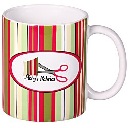 View a larger, more detailed picture of the Tucson Stripe Designer Mug - 11 oz