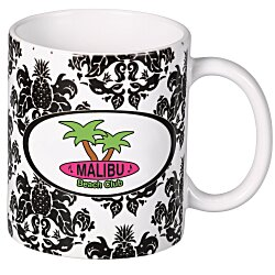 View a larger, more detailed picture of the Pineapple Damask Designer Mug - 11 oz