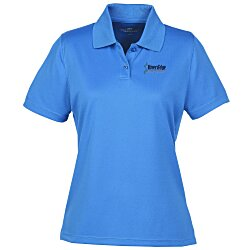 View a larger, more detailed picture of the Vansport Omega Solid Mesh Tech Polo - Ladies - Embroidered