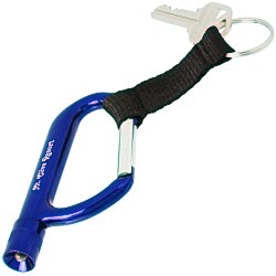 View a larger, more detailed picture of the Flashlight Carabiner with Strap