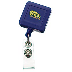 View a larger, more detailed picture of the Economy Retractable Badge Holder - Square - Opaque