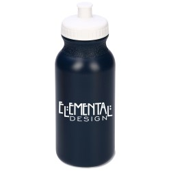 View a larger, more detailed picture of the Sport Bottle with Push Pull Lid - 20 oz - Recycled