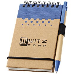 View a larger, more detailed picture of the Dew Drops Recycled Mini Jotter & Pen