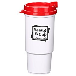 View a larger, more detailed picture of the Insulated Auto Tumbler - 16 oz - White