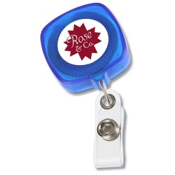 View a larger, more detailed picture of the Retractable Tape Measure Badge Holder - Translucent