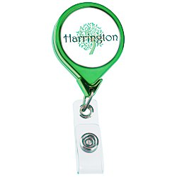 View a larger, more detailed picture of the Retractable Badge Holder - Round - Chrome Finish