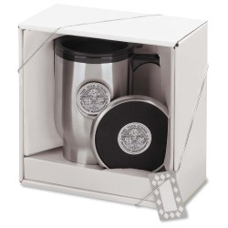 View a larger, more detailed picture of the Medallion Coaster Mug Gift Set