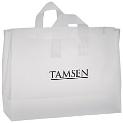 View a larger, more detailed picture of the Soft-Loop Frosted Clear Shopper - 12 x 16