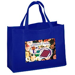 View a larger, more detailed picture of the Celebration Shopping Tote - 12 x 16 - 18 Handles - FC