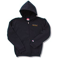 View a larger, more detailed picture of the Champion Full-Zip Hoodie - Youth - Embroidered
