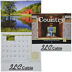 View a larger, more detailed picture of the The Old Farmer s Almanac Calendar - Country- Stapled - 24 hr