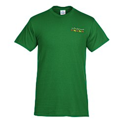 View a larger, more detailed picture of the Adult 5 2 oz Cotton T-Shirt - Embroidered