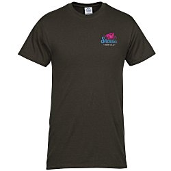 View a larger, more detailed picture of the Adult 6 1 oz Cotton T-Shirt - Embroidered