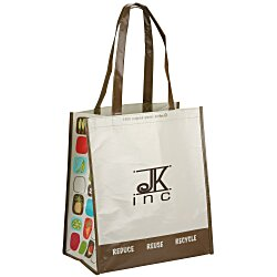 View a larger, more detailed picture of the Expressions Grocery Tote - Brown