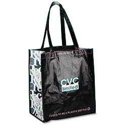 View a larger, more detailed picture of the Expressions Grocery Tote - Black
