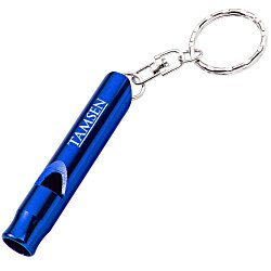View a larger, more detailed picture of the Metal Whistle Key Tag