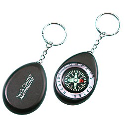 View a larger, more detailed picture of the Oval Compass Key Tag