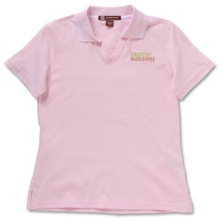 View a larger, more detailed picture of the Harriton 5 9 oz Cotton Jersey Polo w Tipping - Ladies