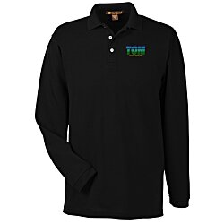 View a larger, more detailed picture of the Harriton 5 6 oz Easy Blend Long Sleeve Polo