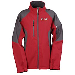 View a larger, more detailed picture of the North End Colorblock Soft Shell Jacket - Ladies
