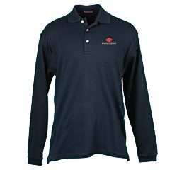 View a larger, more detailed picture of the Egyptian Interlock Long-Sleeve Polo - Men s