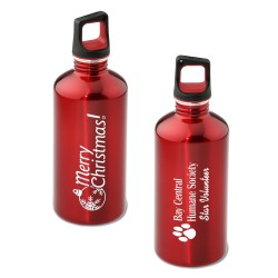 View a larger, more detailed picture of the h2go Stainless Bottle - 20 oz - Merry Christmas - Color