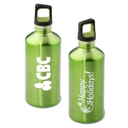 View a larger, more detailed picture of the h2go Stainless Bottle - 20 oz - Happy Holidays - Color