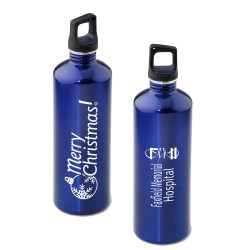 View a larger, more detailed picture of the h2go Stainless Bottle - 24 oz - Merry Christmas - Color