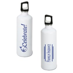 View a larger, more detailed picture of the h2go Stainless Bottle - 24 oz - Celebrate - White